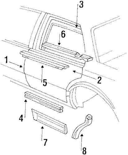 OEM 1989 Oldsmobile Delta 88 Door & Components Parts
