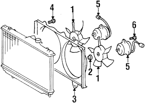 Geo Prizm 1 6 Engine Cooling System Diagram