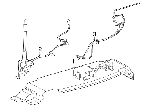 OEM 2015 Chevrolet Corvette Antenna & Radio Parts
