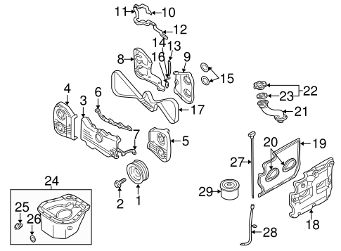Engine Parts for 2002 Subaru Impreza