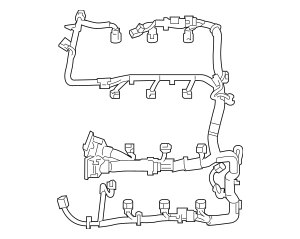 Genuine OEM 2010 Ford Engine Harness AE9Z-12A581-FA
