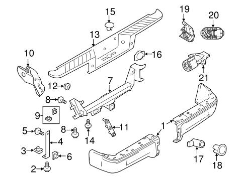 2004-2014 Ford F-150 Rear Bumper Spare Wheel Lock Cover