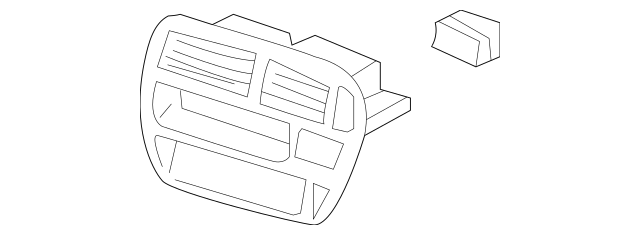 Genuine 2009 Honda FIT 5-DOOR Dash Edge Trim 77251-S01