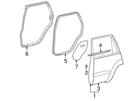 Genuine OEM Door & Components Parts for 2007 Toyota