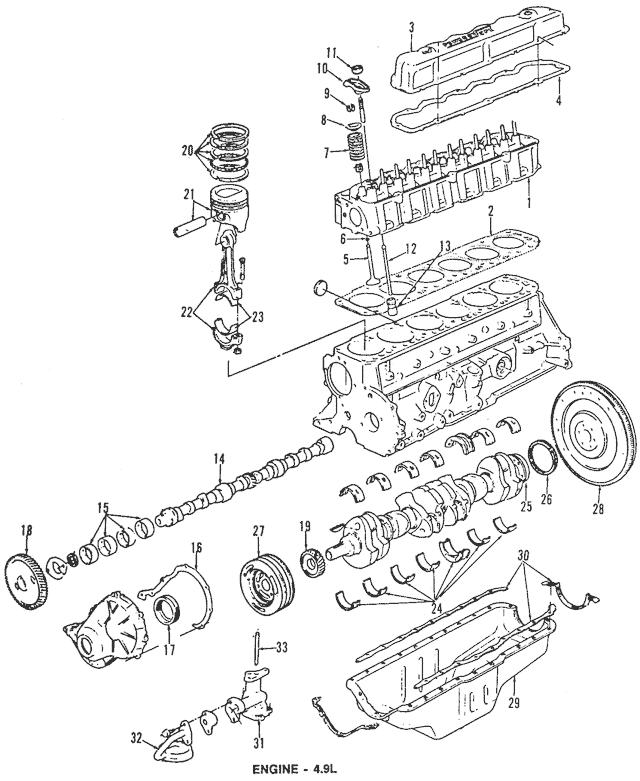 Buy this Genuine 1988-1996 Ford Oil Pan Gasket E7TZ-6710-B