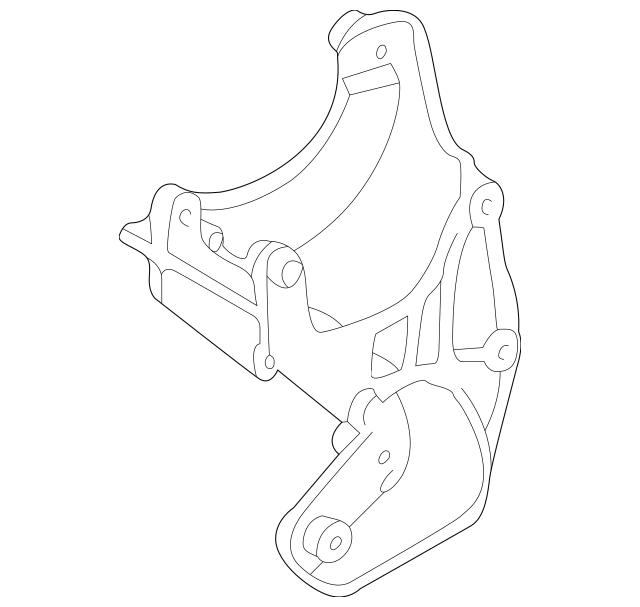 1993-1997 Ford Alternator Mount Bracket F6TZ-10A313-CA