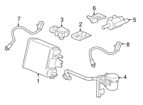 OEM 2006 Hummer H3 Emission Components Parts