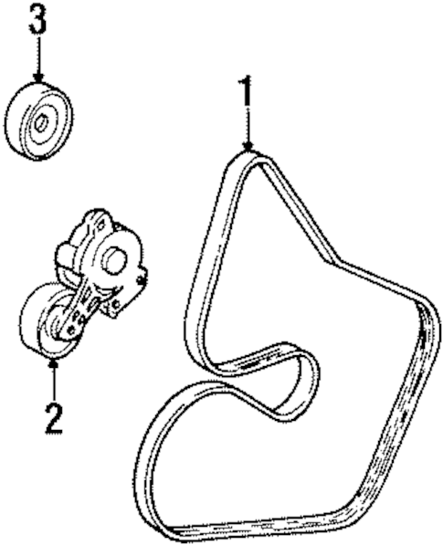 Belts & Pulleys for 2001 Lincoln Continental