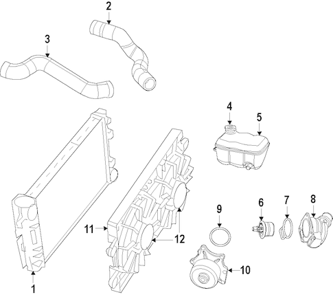 RADIATOR & COMPONENTS for 2008 Dodge Viper
