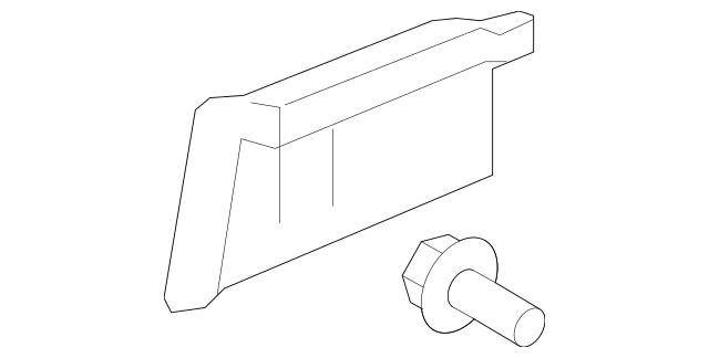 2009-2013 Honda FIT 5-DOOR Garnish Assembly, L Rear Side