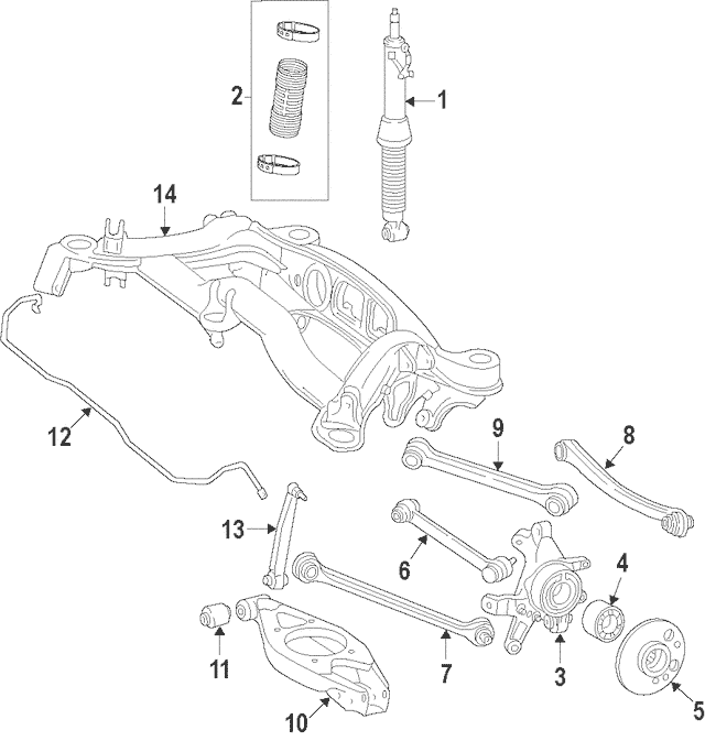 2007-2014 Mercedes-Benz Ft Lateral Arm 221-350-14-06