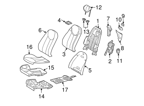 Front Seat Components for 2004 Mercedes-Benz SL 500