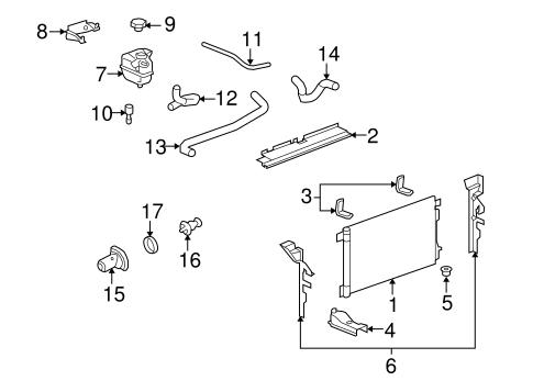 Radiator & Components 2007 Saturn Aura OEM