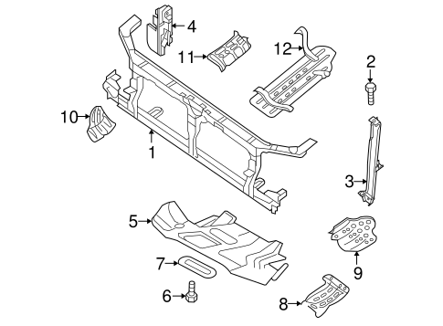 RADIATOR SUPPORT for 2012 Nissan Frontier