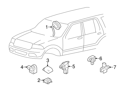 Air Bag Components for 2015 Ford Expedition