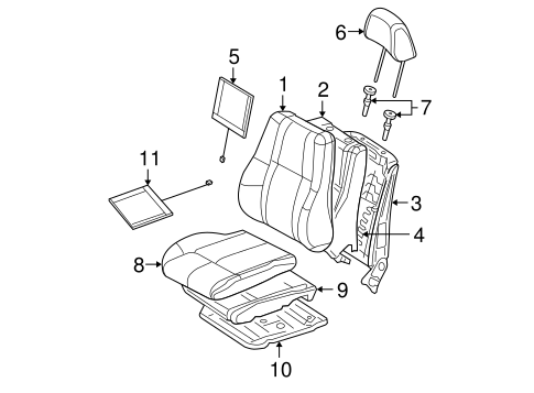 Front Seat Components for 2006 Jeep Grand Cherokee Parts