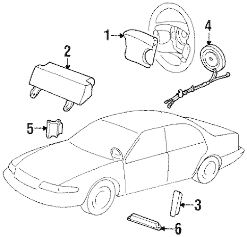 Air Bag Components for 2002 Mercury Cougar