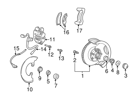 Front Brakes for 2003 Ford Explorer Sport Trac