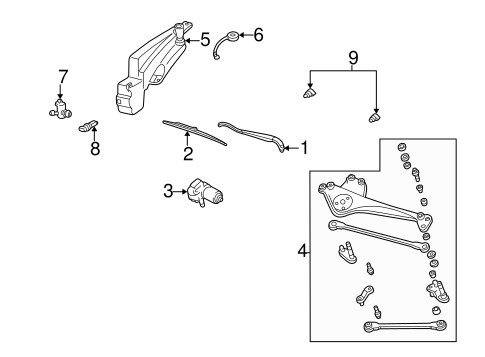 Wiper & Washer Components for 2006 Ford Taurus