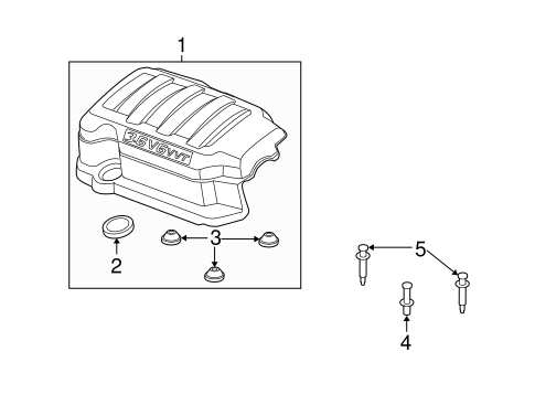 ENGINE APPEARANCE COVER Parts for 2009 Saturn Outlook