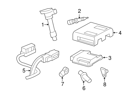 OEM 2008 Pontiac Torrent Powertrain Control Parts