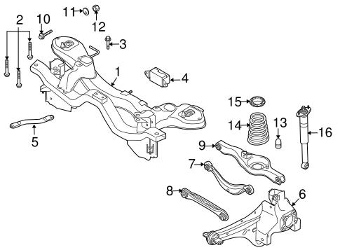 Rear Suspension for 2008 Mazda CX-7