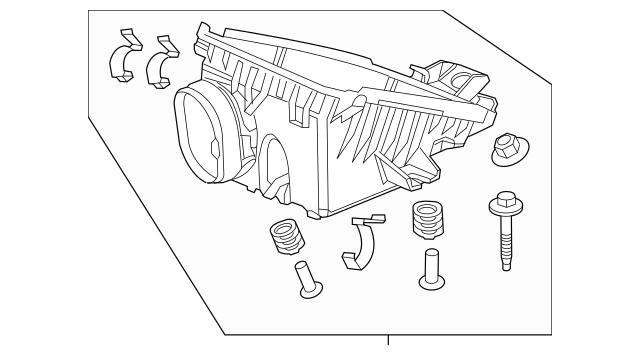 2012-2015 Honda Case Set, Air Cleaner 17201-R1A-A01