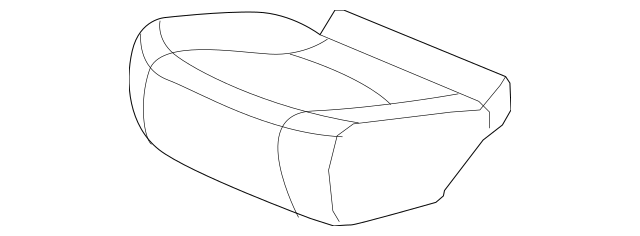 2012-2015 Honda PILOT 5-DOOR Cover, R Middle Seat Cushion