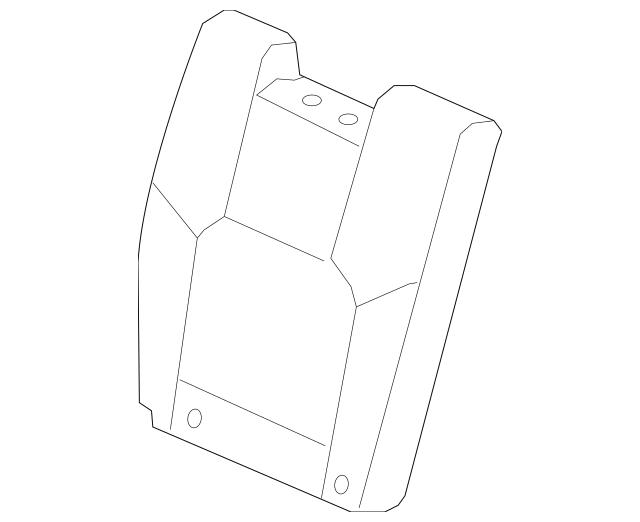 2012-2015 Honda PILOT 5-DOOR Cover, R Rear Seat-Back Trim