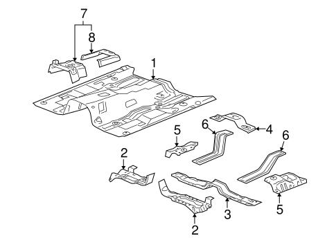 FLOOR & RAILS for 2007 Hummer H3