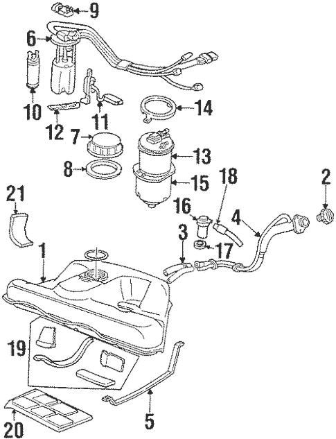 OEM Fuel System Components for 1992 Cadillac Eldorado