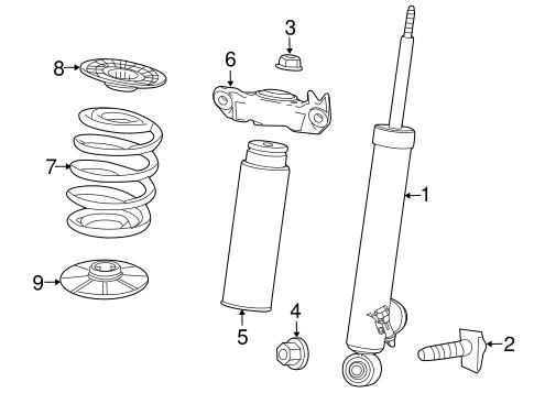 OEM 2013 Chevrolet Malibu Shocks & Components Parts
