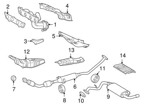 OEM 2003 Pontiac Vibe Exhaust Components Parts
