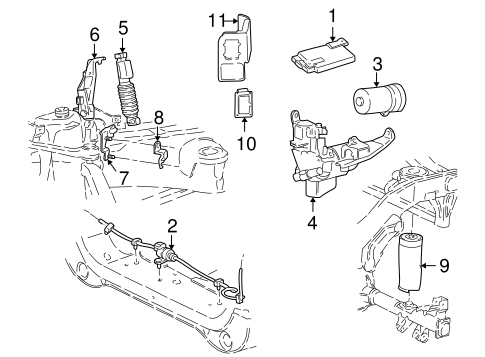Auto Leveling Components for 2000 Ford Expedition