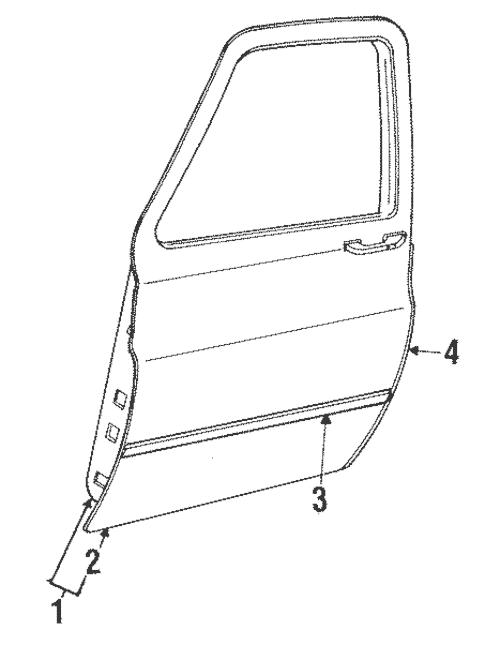Door & Components for 1986 Chevrolet C/K Pickup