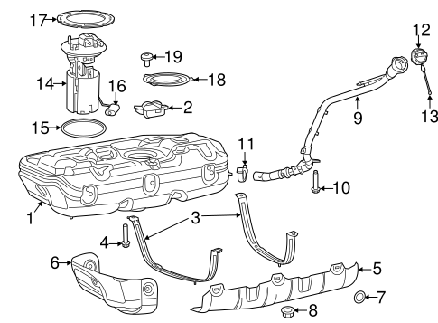 Fuel System Components for 2016 Ram ProMaster City