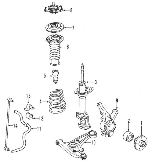Genuine OEM Suspension Components Parts for 2008 Toyota