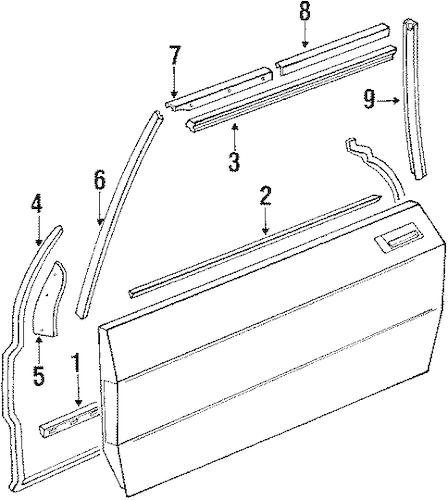 DOOR & COMPONENTS for 1989 Mercedes-Benz 560SL