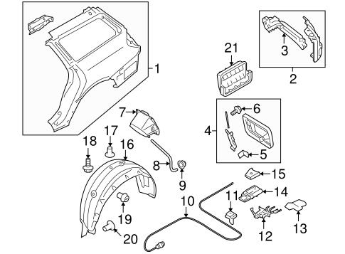 Quarter Panel & Components for 2008 Subaru Outback
