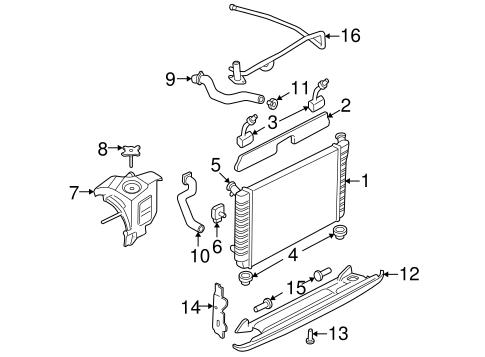 Radiator & Components for 2003 Buick Century