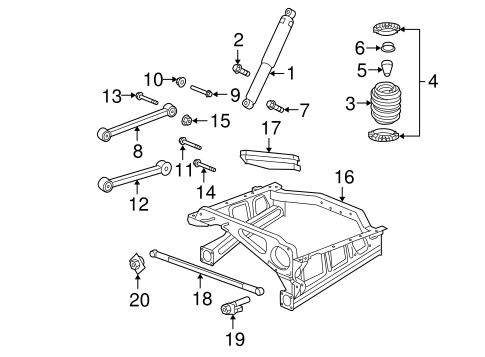 Rear Suspension for 2008 Jeep Grand Cherokee Parts