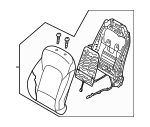 Driver Seat Components for 2013 Hyundai Santa Fe Sport