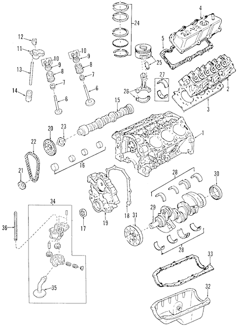 ENGINE for 1996 Mazda B3000