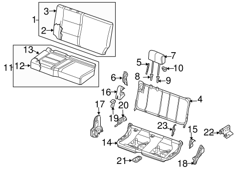 REAR SEAT COMPONENTS for 2004 Nissan Titan