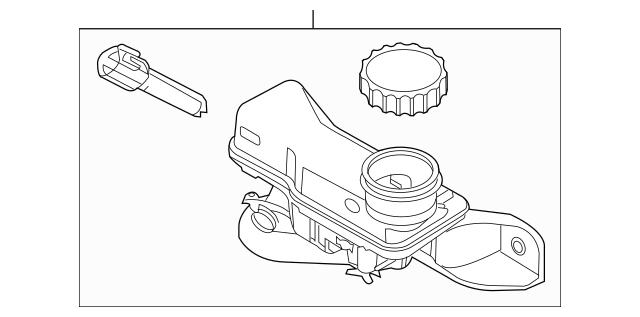 2007-2012 Ford Master Cylinder Reservoir 9H6Z-2K478-A