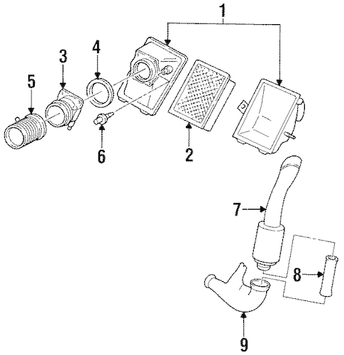 AIR INTAKE for 1999 Ford Taurus
