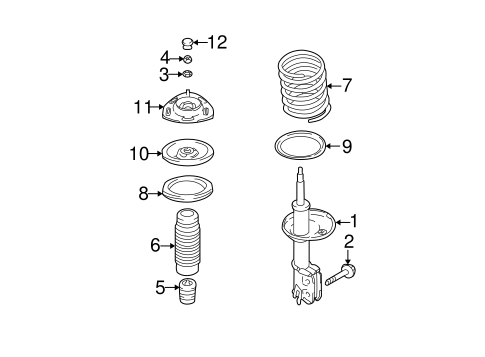 Suspension, Springs & Related Components for 2004 Hyundai