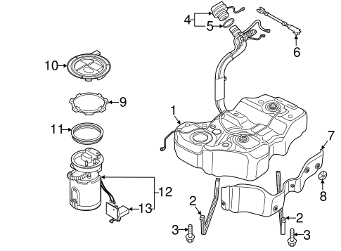 Fuel System Components for 2013 Volkswagen Passat