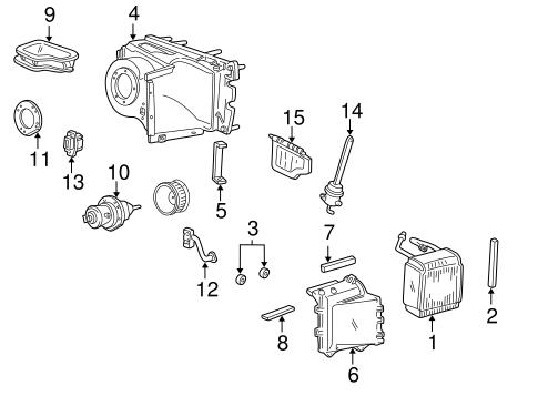 Ford E150 E250 E350 Econoline Van A/C Heater Blower Motor