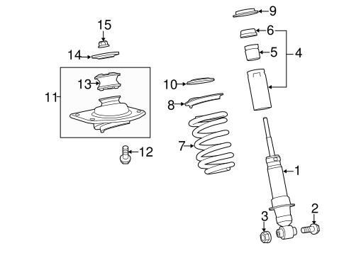 OEM 2010 Chevrolet Camaro Struts & Components Parts
